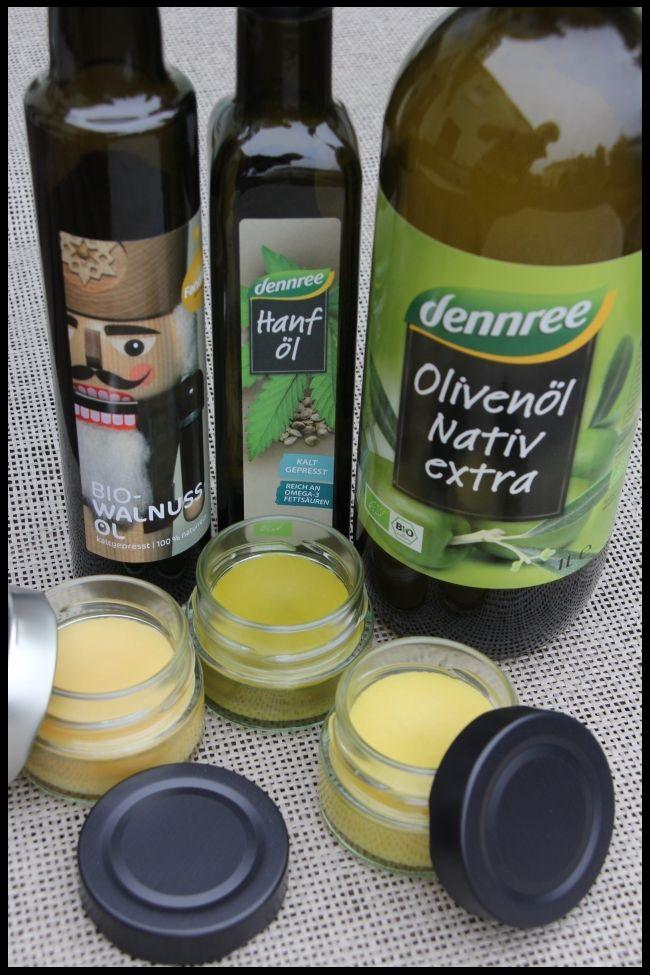 Bio-Öle für Naturcreme - Walnuss-, Hanf-, Olivenöl